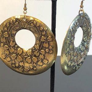 Large Hoop Brass Earrings